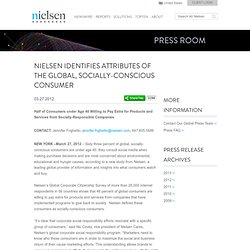 Identifies Attributes of the Global, Socially-Conscious Consumer