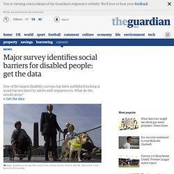 Major survey identifies social barriers for disabled people: get the data