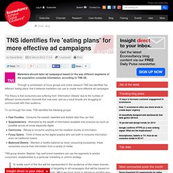 TNS identifies five 'eating plans' for more effective ad campaigns