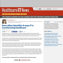 Booz Allen identifies 9 ways IT is transforming healthcare