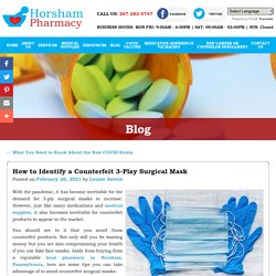 How to Identify a Counterfeit 3-Play Surgical Mask
