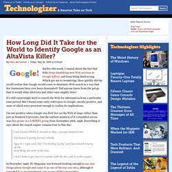 How Long Did It Take for the World to Identify Google?