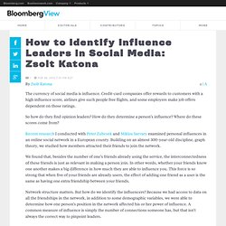 How to Identify Influence Leaders in Social Media: Zsolt Katona