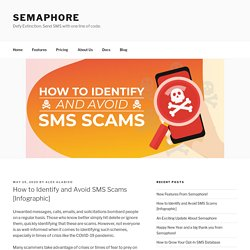 How to Identify and Avoid SMS Scams [Infographic] - Semaphore