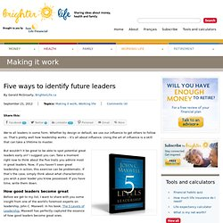 Five ways to identify future leaders