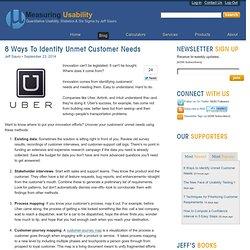 8 Ways to Identify Unmet Customer Needs: Measuring Usability