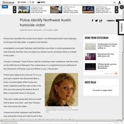 Police identify Northwest Austin homicide victim