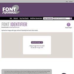 Identify Fonts - Font Squirrel Matcherator