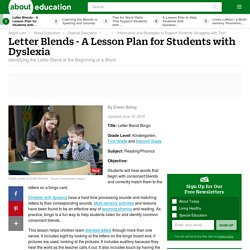 Subject Area: Reading & Resource Name: ESE Lesson Plan - Letter Blends