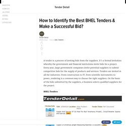 How to Identify the Best BHEL Tenders and make a Successful Bid?