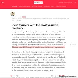 Identify users with the most valuable feedback — Startup Grind