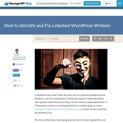 How to Identify and Fix a Hacked WordPress Website