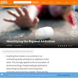 Identifying the Signs of Addiction