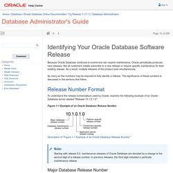 Identifying Your Oracle Database Software Release