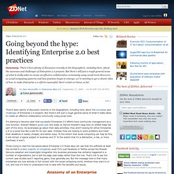 Going beyond the hype: Identifying Enterprise 2.0 best practices