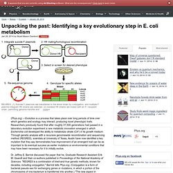 Unpacking the past: Identifying a key evolutionary step in E. coli metabolism