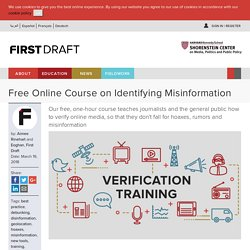Free Online Course on Identifying Misinformation