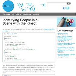 Identifying People in a Scene with the Kinect - Learning