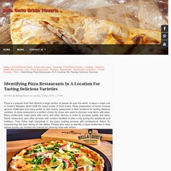 Identifying Pizza Restaurants In A Location For Tasting Delicious Varieties