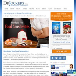 Identifying Your Food Sensitivities - DrJockers.com