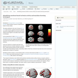 Identifying emotions based on brain activity and machine-learning techniques