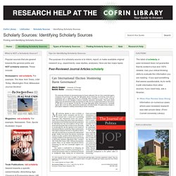 Identifying Scholarly Sources - Scholarly Sources - LibGuides at University of Wisconsin-Green Bay