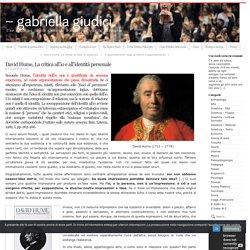 David Hume, La critica all'io e all'identità personale