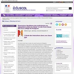 Colloque « Didactique de l'oral » - Dimensions identitaires des participants aux interactions orales en classe: le cas d'une classe ZEP d'un collège de Perpignan