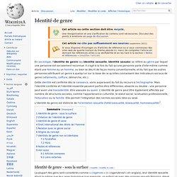 Wikipédia → Identité de genre