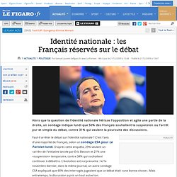Politique : Identité : la moitié des Français dit st