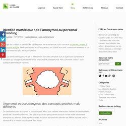Identité numérique : de l'anonymat au personal branding