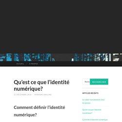 INTRODUCTION: Identité numérique