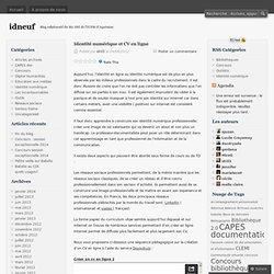 Identité numérique et CV en ligne