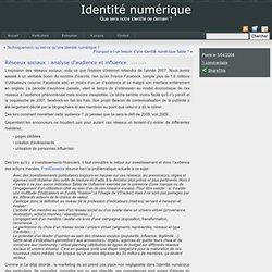 Identité numérique» Archive du blog : Réseaux sociaux : analyse d'audience et influence