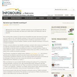 Infobourg : Qu'est-ce que l'identité numérique?