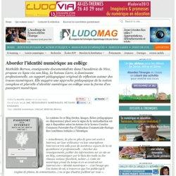 identité numérique au collège ; des traces laissées sur internet