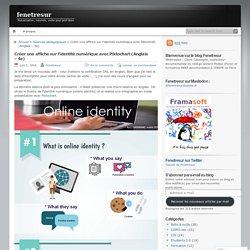 Créer une affiche sur l'identité numérique avec Piktochart (Anglais – 4e)