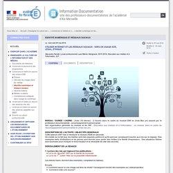 Séance LP 5 : Identité numérique et réseaux sociaux