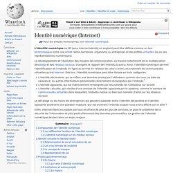 Identité numérique (Internet)