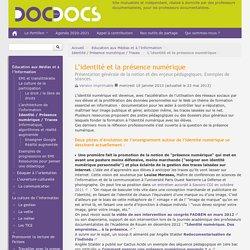 L'identité et la présence numérique - Doc pour docs