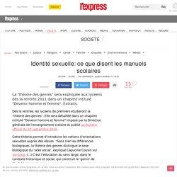 Identité sexuelle: ce que disent les manuels scolaires