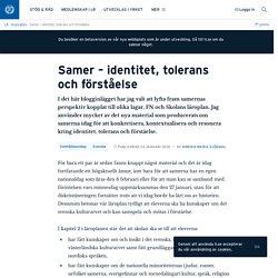 Samer – identitet, tolerans och förståelse · Lärarnas Riksförbund