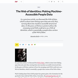 The Web of Identities: Making Machine-Accessible People Data