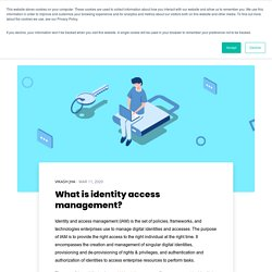What is identity access management?