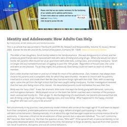 Identity and Adolescents: How Adults Can Help - NCYI - National Center for Youth Issues