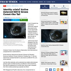 Identity crisis? Active Asteroid 62412 Grows Comet-like Tail : SCIENCE : Tech Times