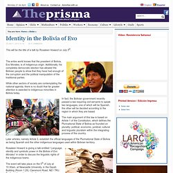 Identity in the Bolivia of Evo - ThePrisma.co.uk