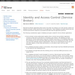 Identity and Access Control (Service Broker)