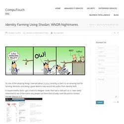 Identity Farming Using Shodan