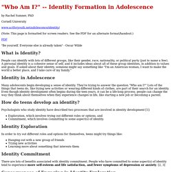Identity Formation in Adolescence